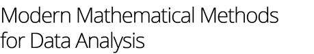 Modern mathematical methods for data analysis Logo
