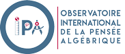 Colloque international de l'observatoire international de la pensée algébrique Logo