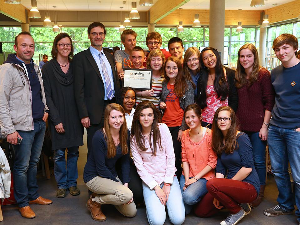 Les lauréats 2014 - Le Collège Saint Michel de Gosselies - ©ULg – M. Houet