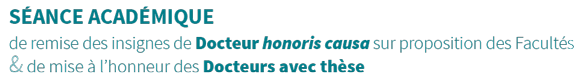 Docteurs à thèse et Docteurs honoris causa Logo