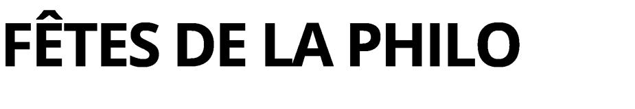 Fêtes de la Philo Retina Logo