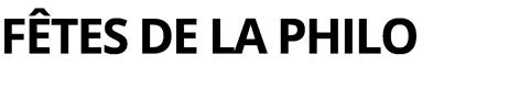 Fêtes de la Philo Logo